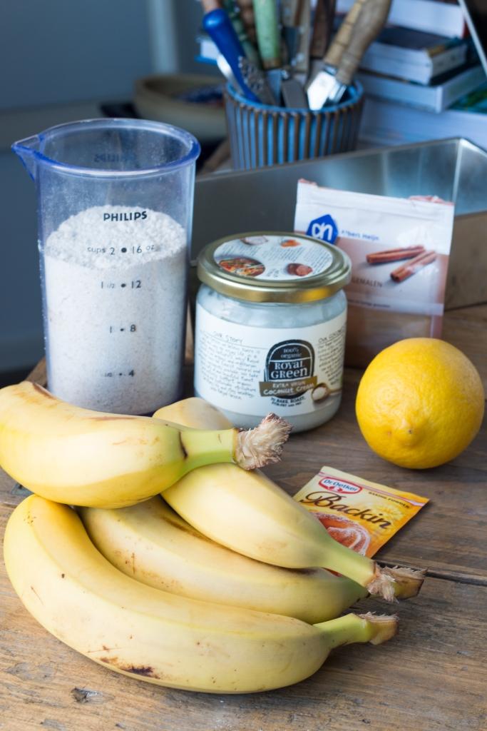 Bananenbrood (vegan, glutenvrij en suikervrij)