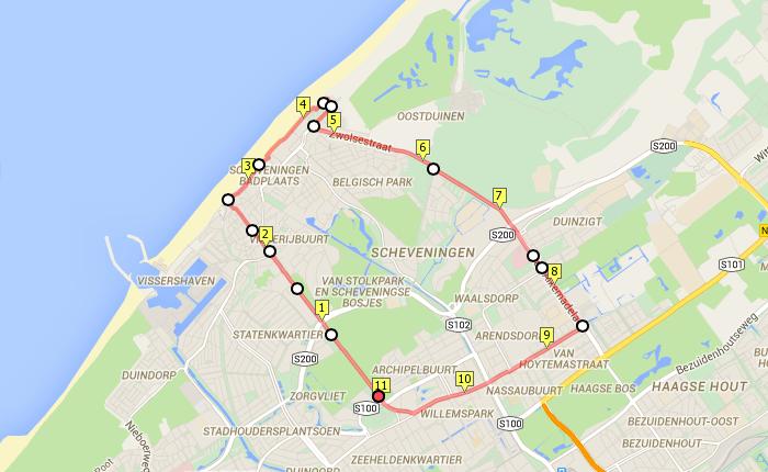 Favoriete hardlooproute Den Haag