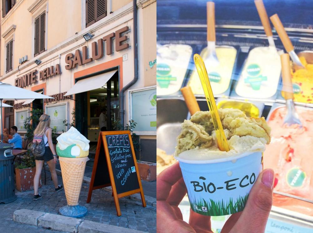 Fonte della Salute // Vegan Ice Cream - Healthy Hotspots in Rome