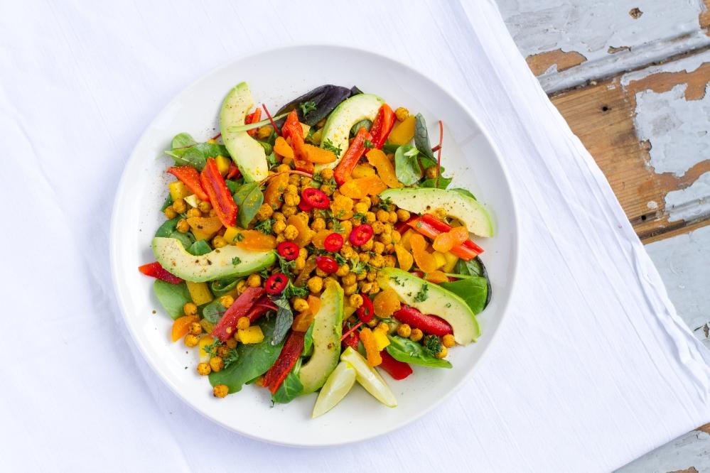 Geroosterde Kikkererwten Salade