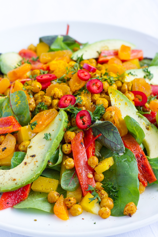 Salade Gerookte Paprika & Geroosterde Kikkererwten
